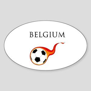 Belgium Soccer Sticker (Oval)