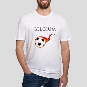 Belgium Soccer Fitted T-Shirt