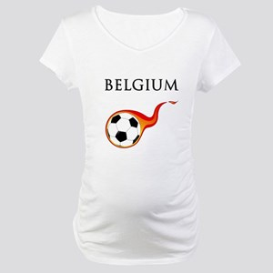Belgium Soccer Maternity T-Shirt