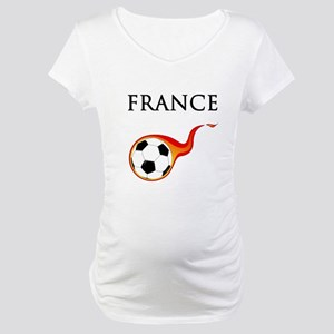 France Soccer Maternity T-Shirt