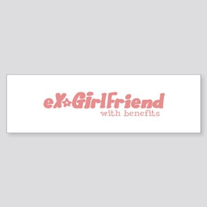 EX GIRLFRIEND WITH BENEFITS Sticker (Bumper)