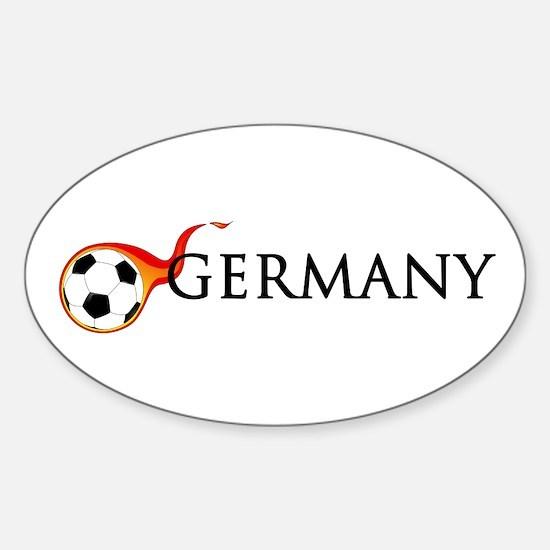 Germany Soccer Sticker (Oval)