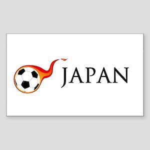 Japan Soccer Sticker (Rectangle)