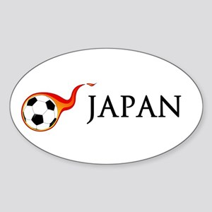 Japan Soccer Sticker (Oval)