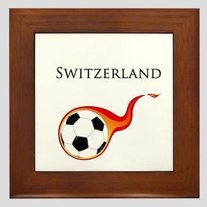 Switzerland Soccer Framed Tile