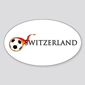 Switzerland Soccer Sticker (Oval)