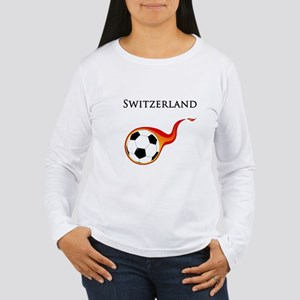 Switzerland Soccer Women's Long Sleeve T-Shirt
