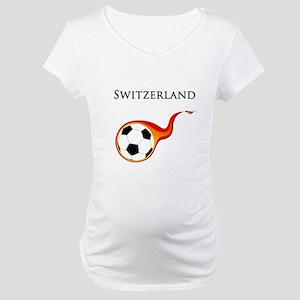 Switzerland Soccer Maternity T-Shirt