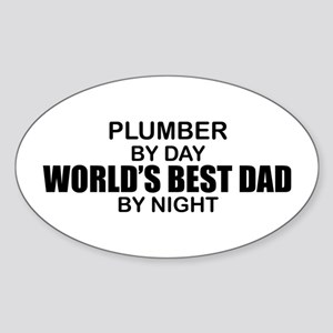 World's Best Dad - Plumber Sticker (Oval)