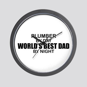 World's Best Dad - Plumber Wall Clock