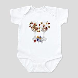 Cheerful Wine Glasses Infant Bodysuit