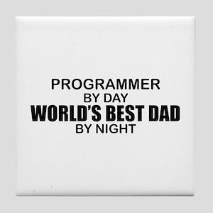 World's Best Dad - Programmer Tile Coaster
