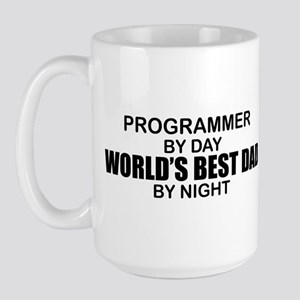 World's Best Dad - Programmer Large Mug