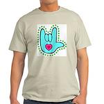 Aqua Dotty Love Hand Light T-Shirt