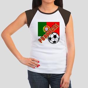 World Soccer PortugalTeam T-shirts Women's Cap Sle