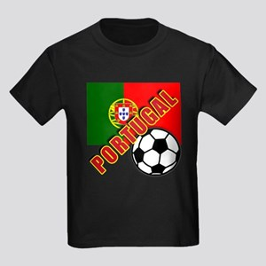 World Soccer PortugalTeam T-shirts Kids Dark T-Shi