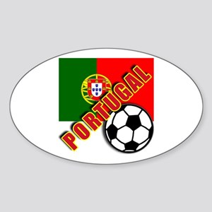 World Soccer PortugalTeam T-shirts Sticker (Oval)