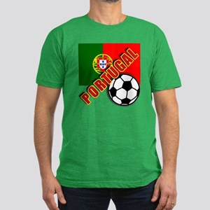 World Soccer PortugalTeam T-shirts Men's Fitted T-