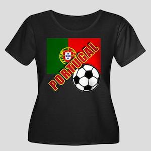 World Soccer PortugalTeam T-shirts Women's Plus Si