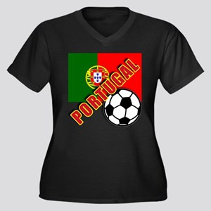 World Soccer PortugalTeam T-shirts Women's Plus Si