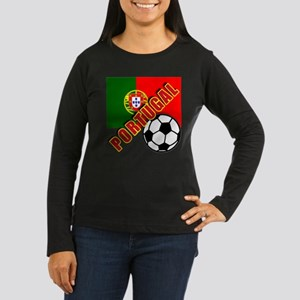 World Soccer PortugalTeam T-shirts Women's Long Sl