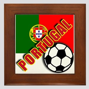 World Soccer PortugalTeam T-shirts Framed Tile