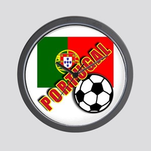 World Soccer PortugalTeam T-shirts Wall Clock