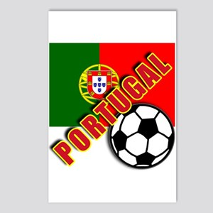World Soccer PortugalTeam T-shirts Postcards (Pack