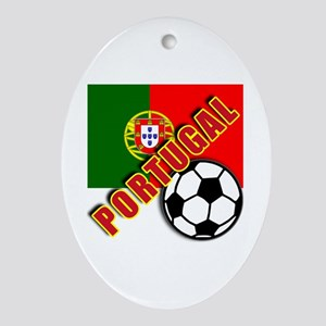 World Soccer PortugalTeam T-shirts Ornament (Oval)