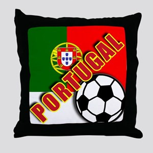 World Soccer PortugalTeam T-shirts Throw Pillow