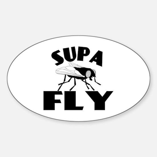 Supa Fly Sticker (Oval)