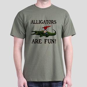 ALLIGATORS ARE FUN ! Dark T-Shirt