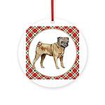 Fawn Pug Ornament (Round)