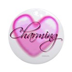 Ornament (Round) - Charming Heart Glass Tile Mosai