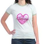Jr. Ringer T-Shirt - Charming Heart Glass Tile Mos