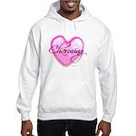 Hooded Sweatshirt - Charming Heart Glass Tile Mosa