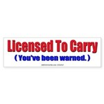 Licensed To Carry (Bumper Sticker 10 pk)
