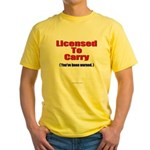 Licensed To Carry Yellow T-Shirt