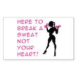 Break Sweat Sticker (Rectangle)