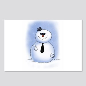 Snowman Dude Postcards (Package of 8)