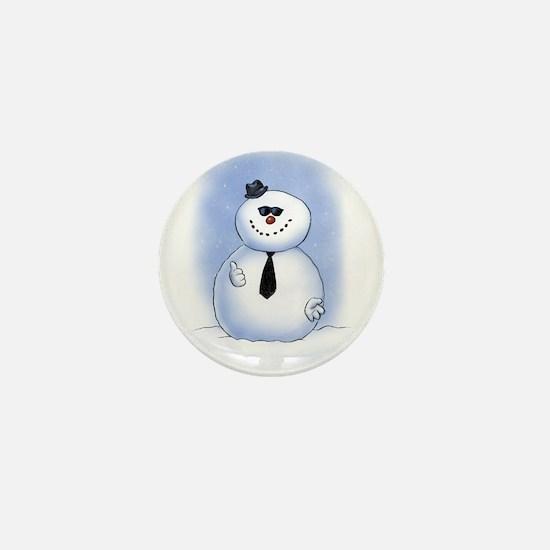 Snowman Dude Mini Button (10 pack)