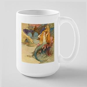 Vintage Mermaid Large Mug