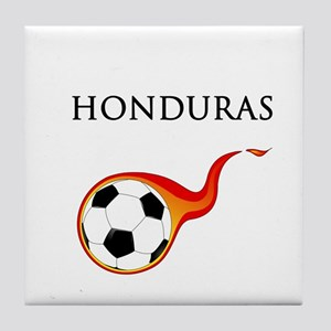 Honduras Soccer Tile Coaster