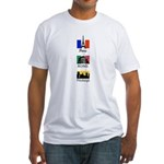 Paris, Rome, Pittsburgh Fitted T-Shirt
