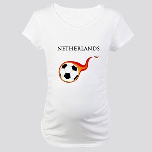 Netherlands Soccer Maternity T-Shirt