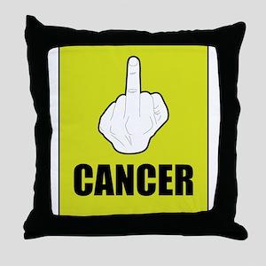 F Cancer Throw Pillow