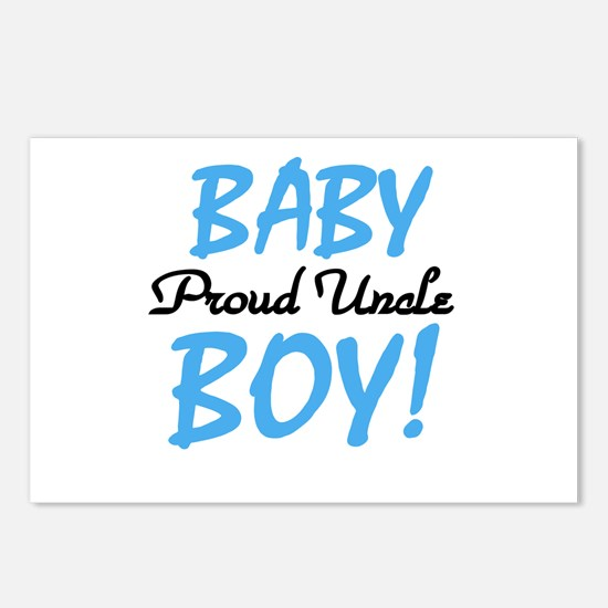 Baby Boy Proud Uncle Postcards (Package of 8)