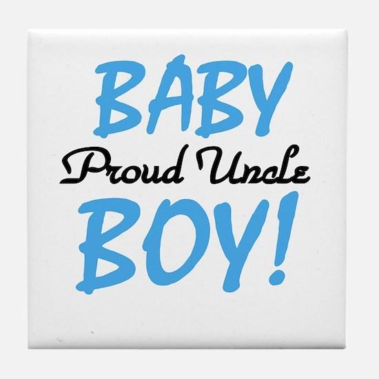 Baby Boy Proud Uncle Tile Coaster