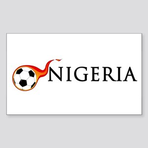Nigeria Soccer Sticker (Rectangle)