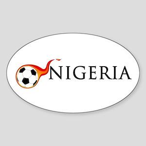 Nigeria Soccer Sticker (Oval)